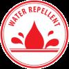 Vodoodbojno - rdeč piktogram
